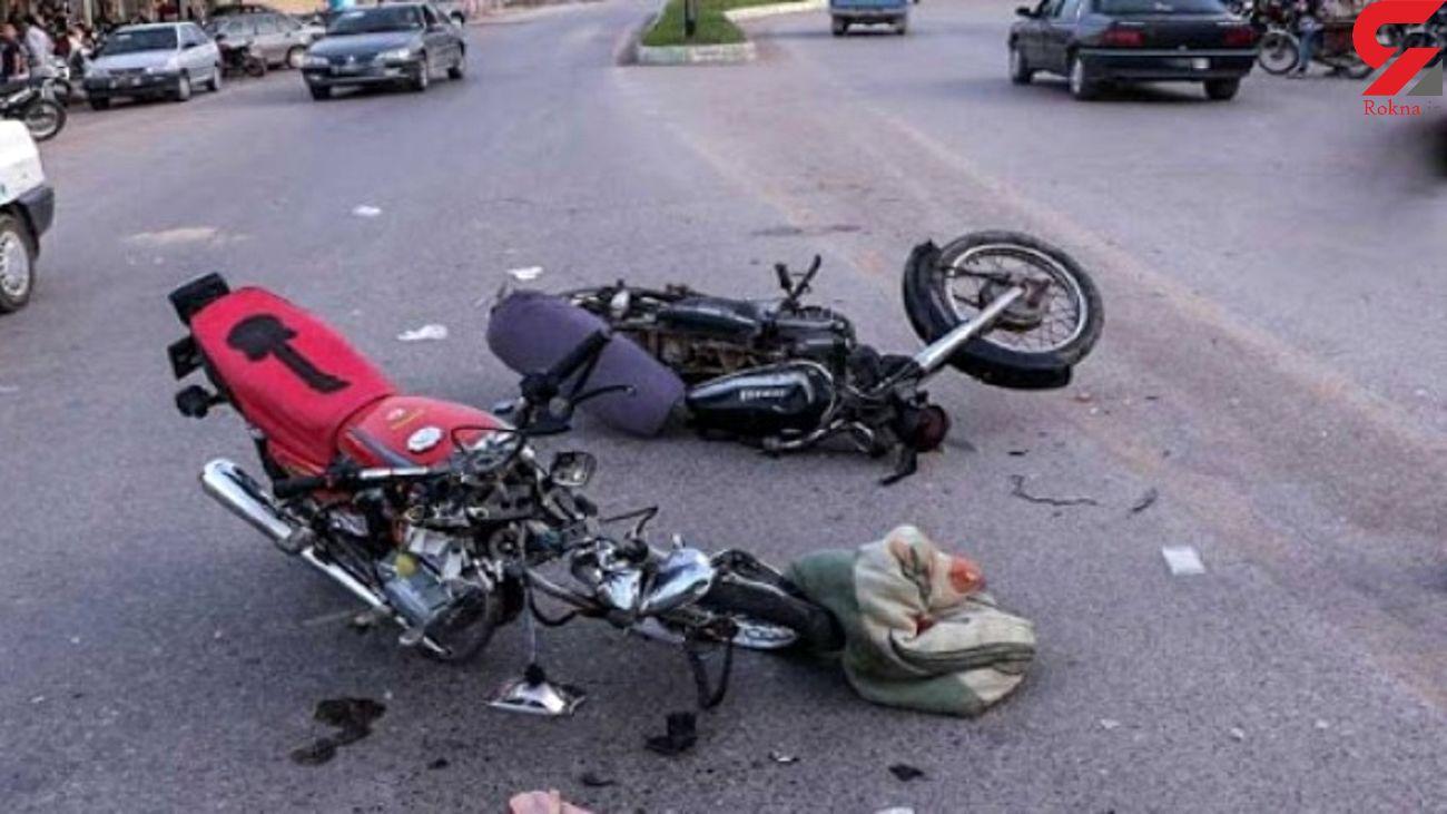 تصادف وحشتناک 2 موتور سیکلت در شهرستان ریوش
