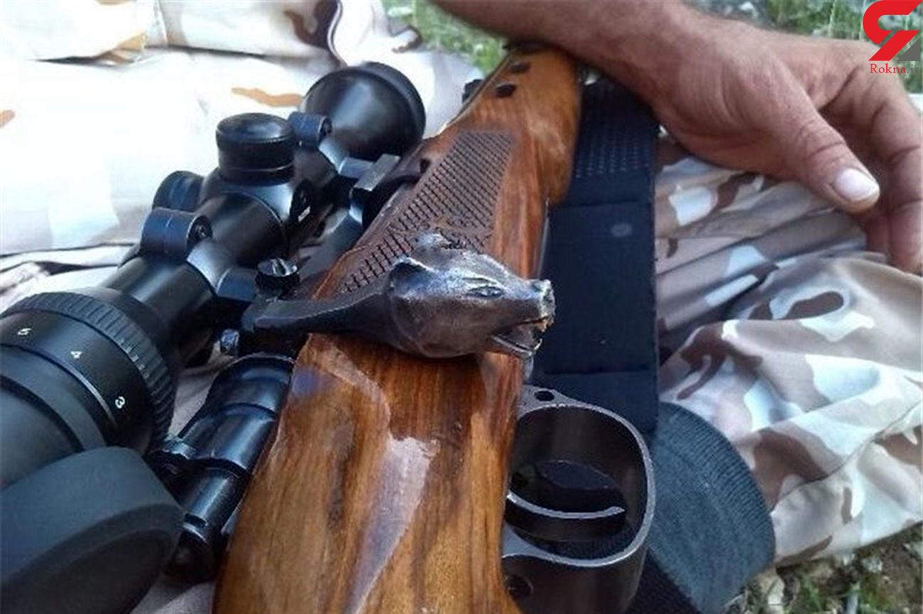 شکارچی پرندگان شکاری به دام محیطبانان افتاد
