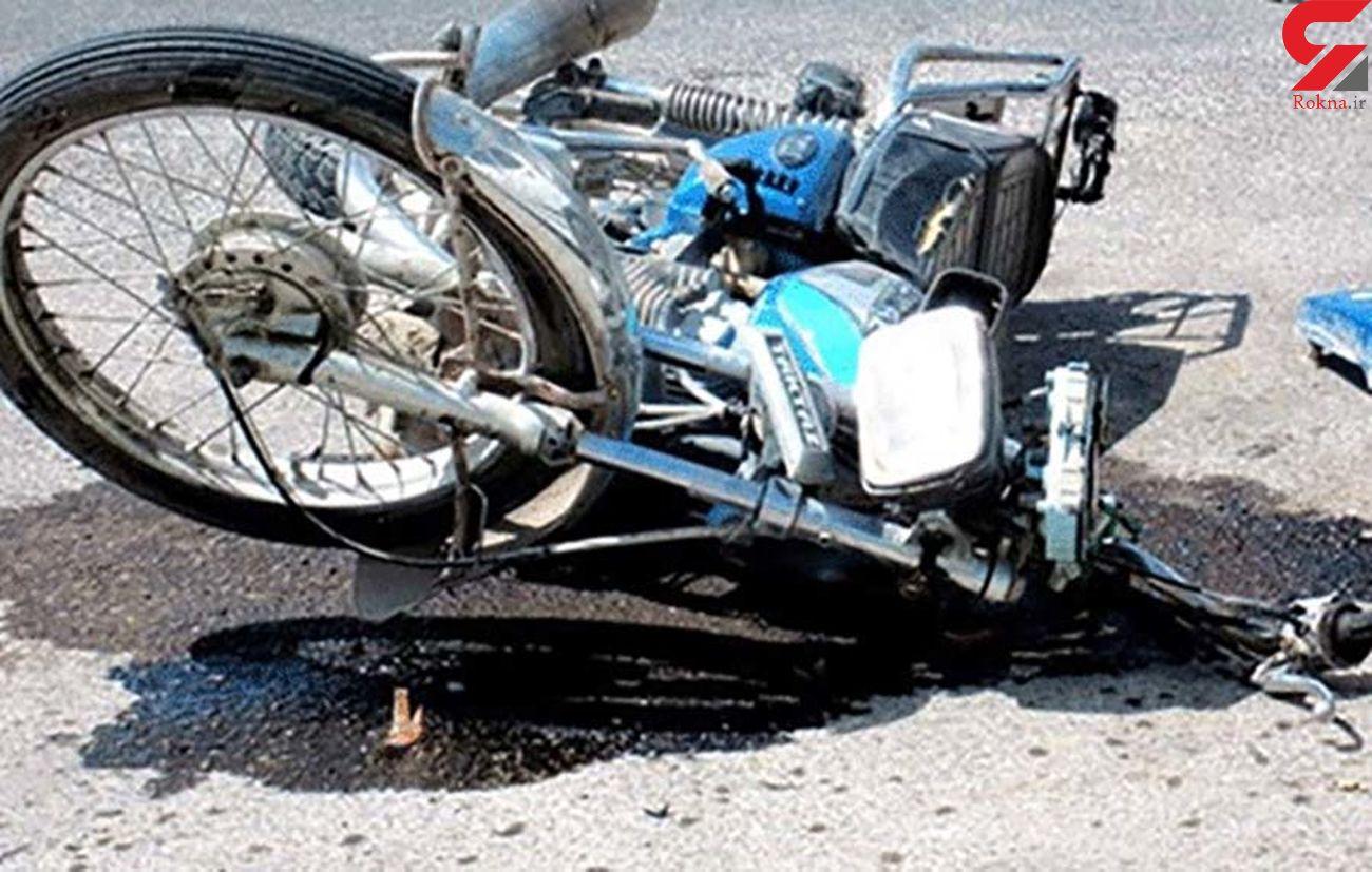 جوان موتورسوار در قم کشته شد