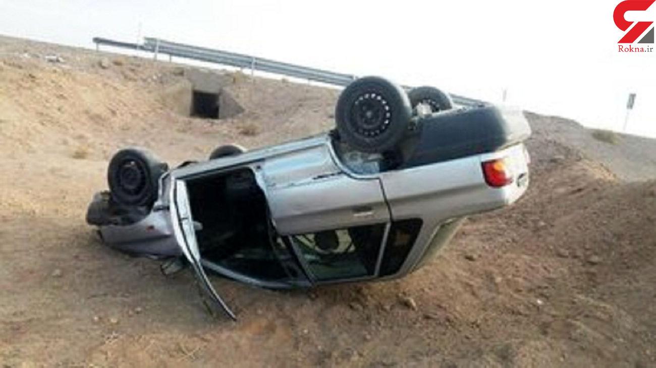 5 مصدوم در واژگونی خودرو سواری در محور مهریزـ انار