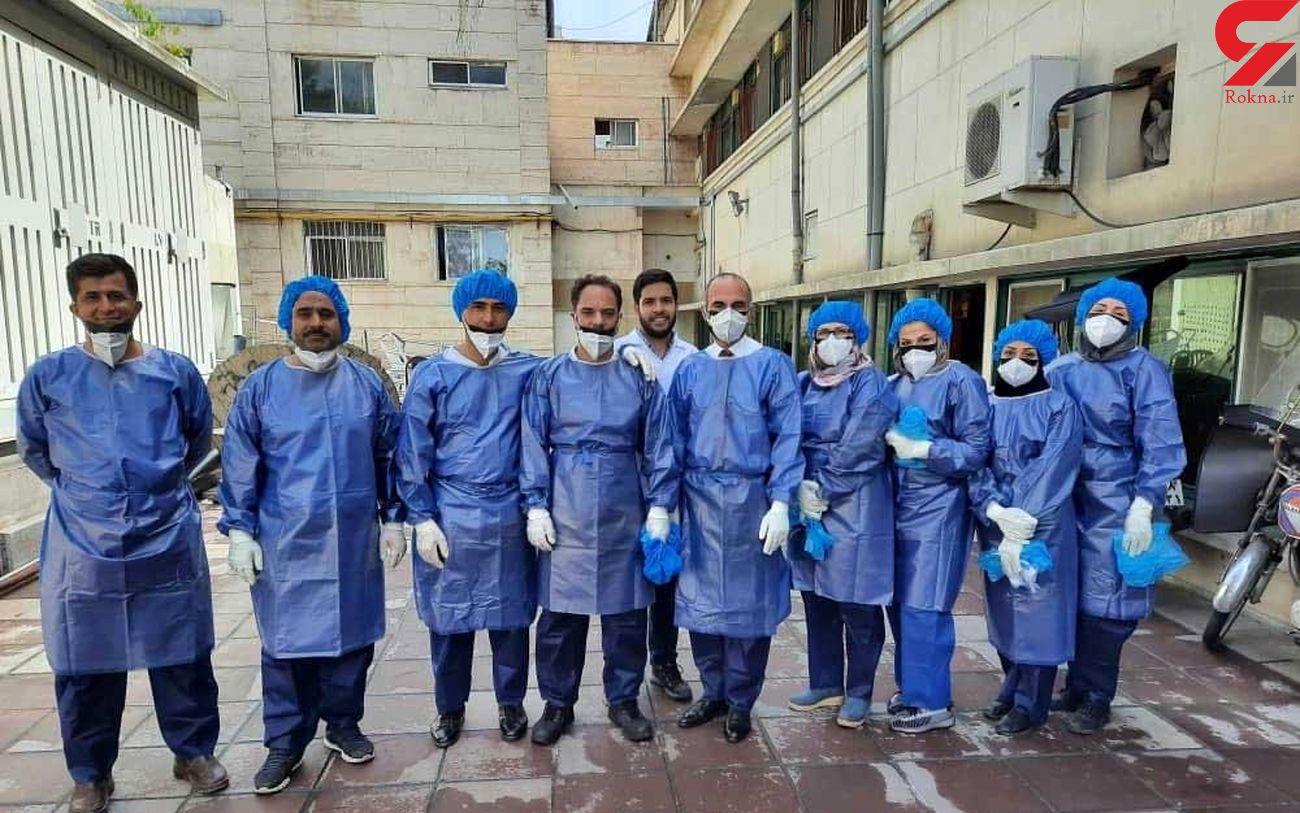 حضور عجیب 10 ماسور در بخش کرونایی های بیمارستان بهارلو!