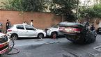 حادثه ای عجیب برای خودروی لاکچری در محله لاکچری نشین تهران+ عکس