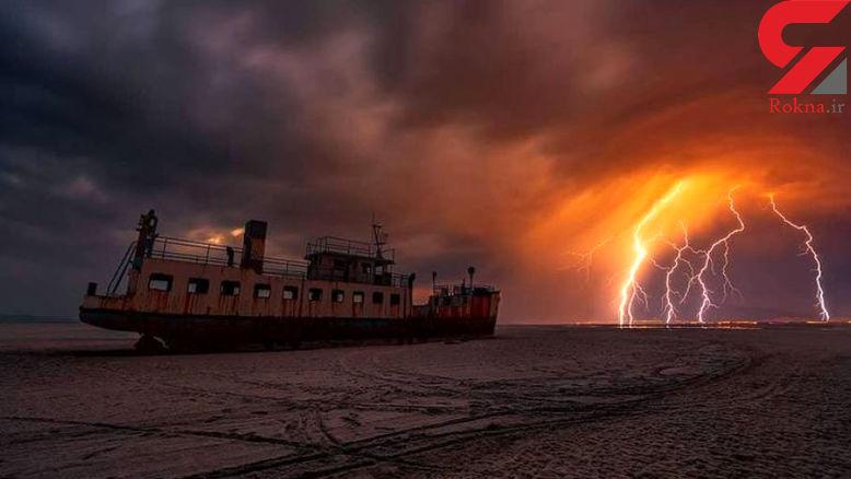 تصویری حیرت انگیز از دریاچه ارومیه