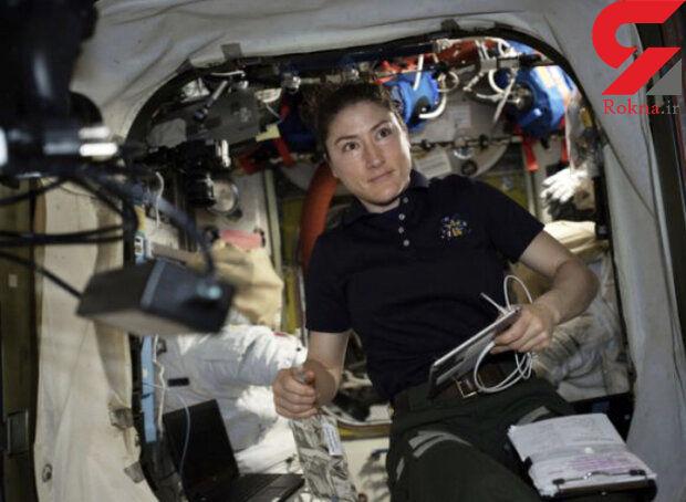 یک فضانورد زن رکورد دار اقامت در فضا میشود