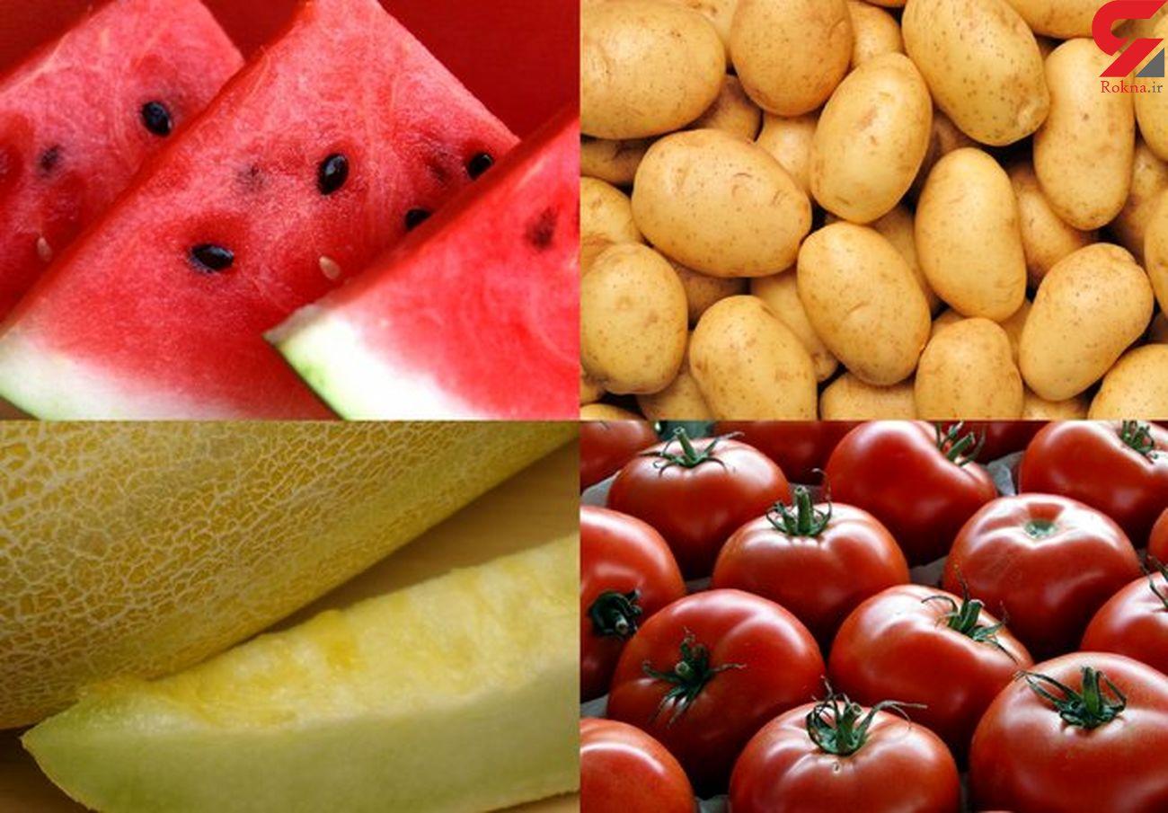 سیب زمینی، هندوانه و گوجه فرنگی، پرفروشترین محصولات میوه و تره بار