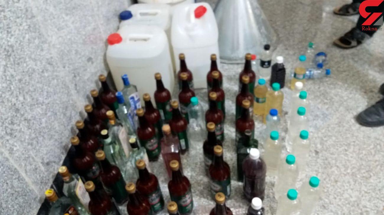 کشف 400 شیشه مشروبات الکلی ایرانی و خارجی در آبادان