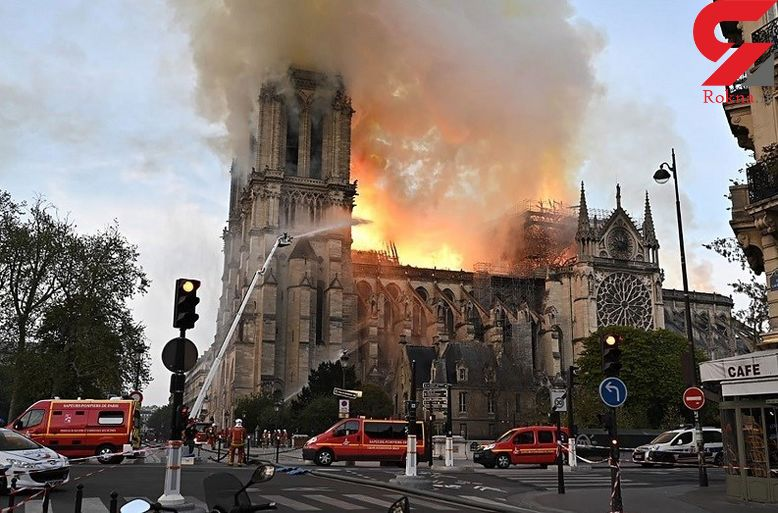 زوایایی پنهان از شعلهور شدن کلیسای نوتردام