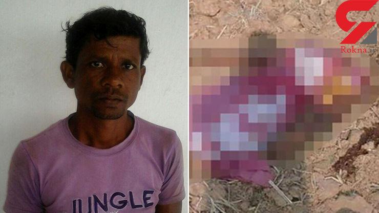 مردی با تبر سر همسرش را تن جدا کرد+عکس(16+)