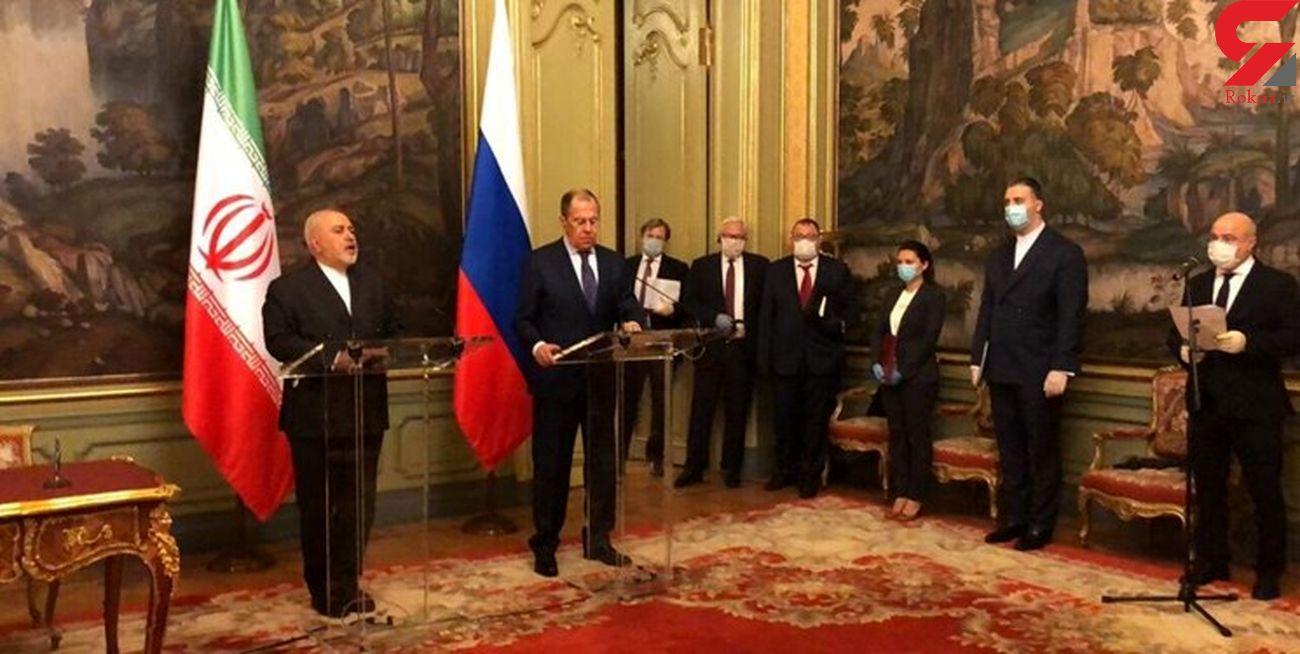 ظریف در دیدار با وزیر امور خارجه روسیه: در قطعنامه ۲۲۳۱ رژیم تحریم تسلیحاتی نداریم