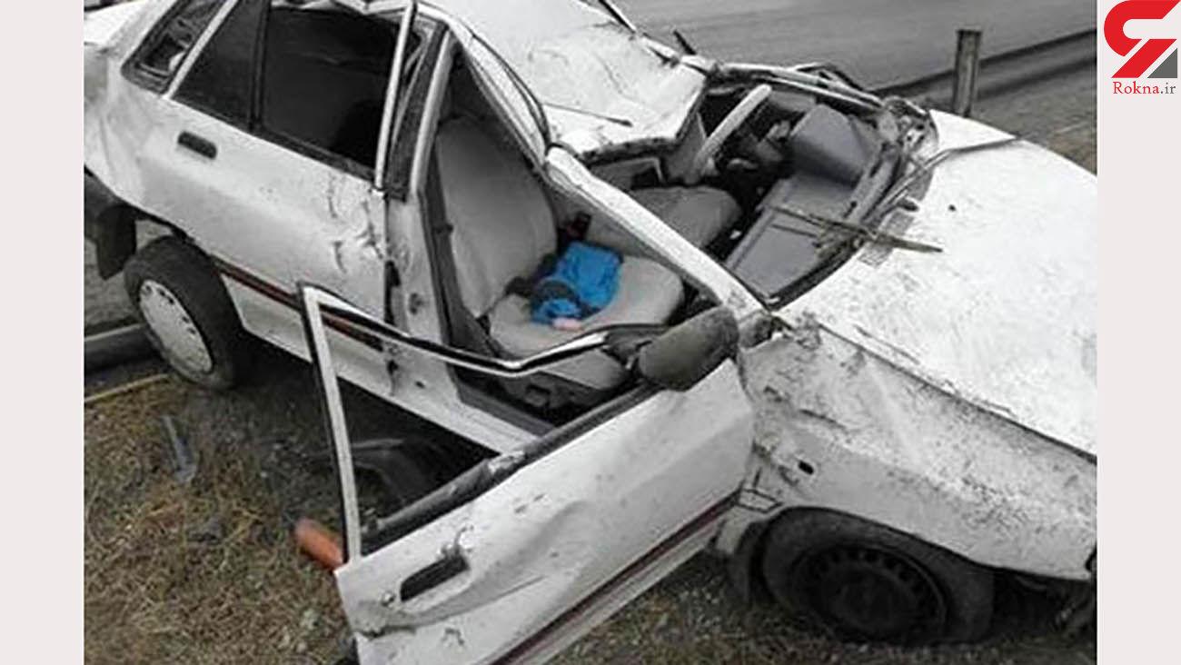 مرگ 3 سرنشین پراید در تصادف خودروی لاکچری / در شیراز رخ داد + عکس