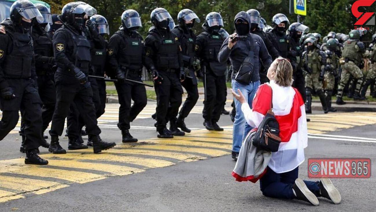 تظاهرات 10 هزار زن مخالف لوکاشنکو در بلاروس