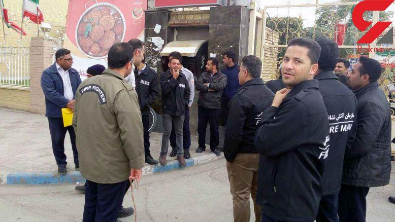 بحران در آستانه چهارشنبه سوری / تجمع آتش نشانان آبادان بخاطر پرداخت نشدن حقوق هایشان  +فیلم و عکس