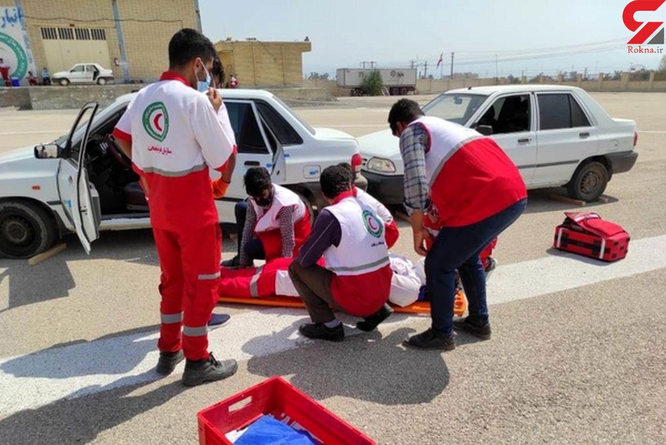امدادرسانی هلال احمر هرمزگان به 101حادثه دیده در اردیبهشت ماه
