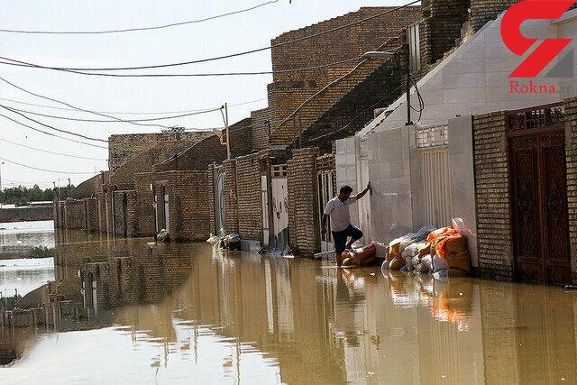 سیل به 525 واحد مسکونی خوزستان لطمه زده است