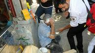 لحظه زنده به گور شدن 2 مرد در شهرری+ تصاویر