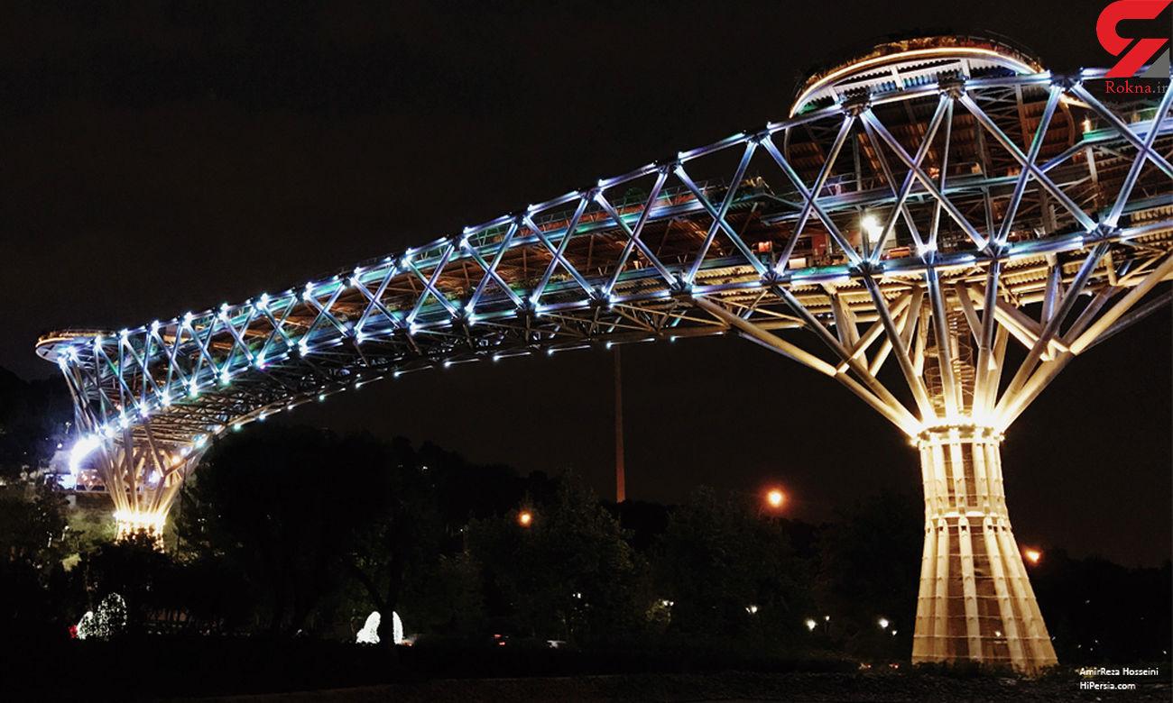 پل طبیعت در شب نوروز ۱۴۰۰ نورافشانی میشود