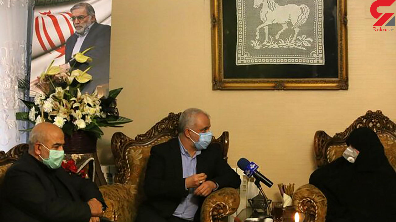 حضور رییس بنیاد شهید و امور ایثارگران در منزل شهید محسن فخریزاده + عکس