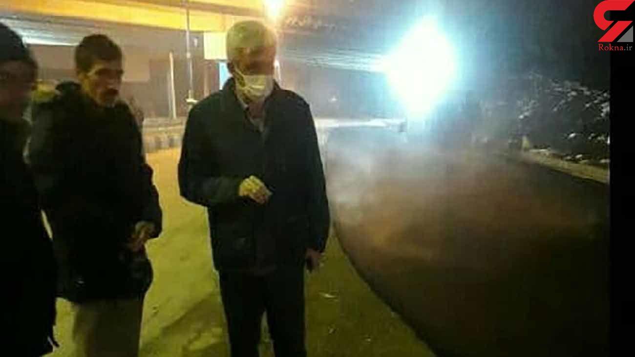 بازدید/فرماندار هشترود از  آسفالت ریزی محله خورجستان
