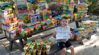 اهدای هزاران اسباب بازی پسر سرطانی به کودکان بیمار+عکس