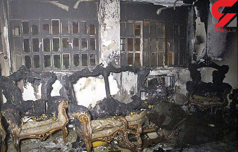 سوختن یک خانه در بندرعباس به خاطر اتصالی برق کولر + عکس