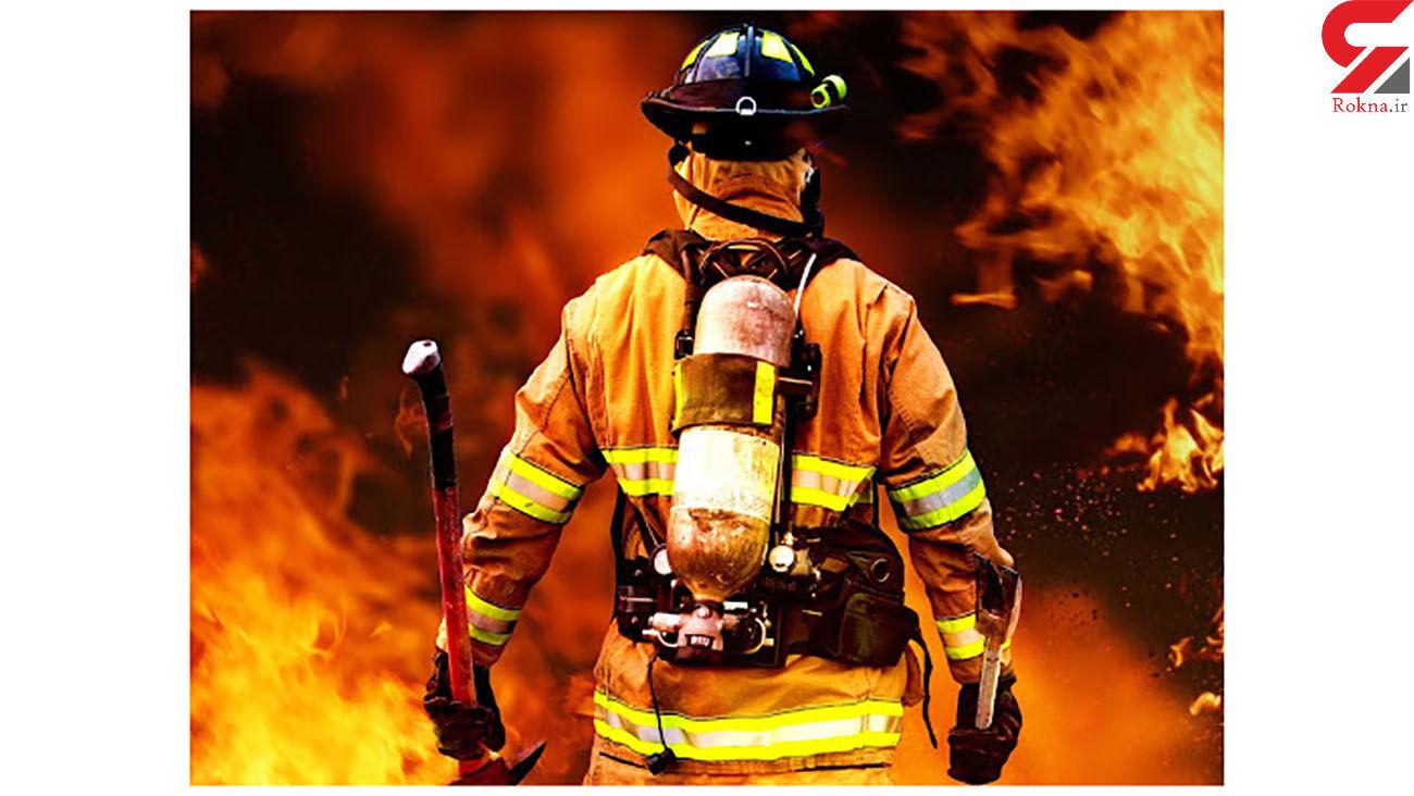 ساختمان مسکونی در محله خزانه تهران آتش گرفت / گرفتار شدن زن جوان در آتش