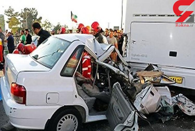 مرگ تلخ زائر ایرانی کربلا در تصادف وحشتناک + عکس لحظه حادثه