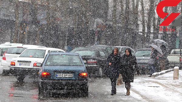 جاده های مازندران برفی و بارانی است