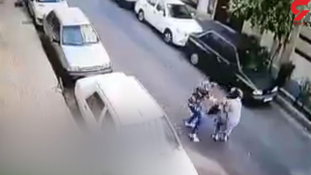 فیلم لحظه زورگیری وحشیانه از زن تهرانی /  2 زورگیر را می شناسید ؟!