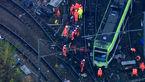 ترمز دیرهنگام  راننده قطار فاجعه آفرید +فیلم و تصاویر
