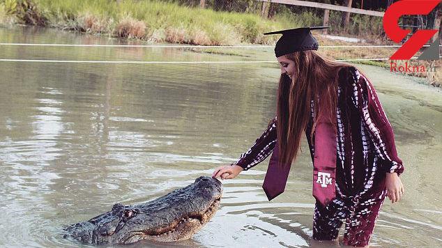 این دختر زیبا ملکه تمساح هاست! + عکس وحشتناک