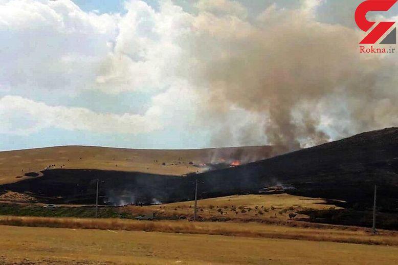 ۲۳ هکتار از مراتع و مزارع مهاباد در آتش سوخت