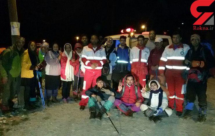 نجات ۱۶ کوهنورد گمشده در منطقه ارفع کوه