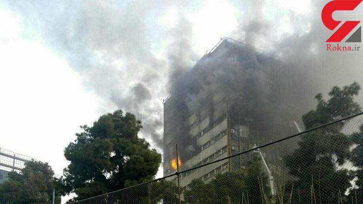 نجات 5 نفر از گرفتارشدگان در آتش سوزی پلاسکو / تلاف جانی نداشت+عکس