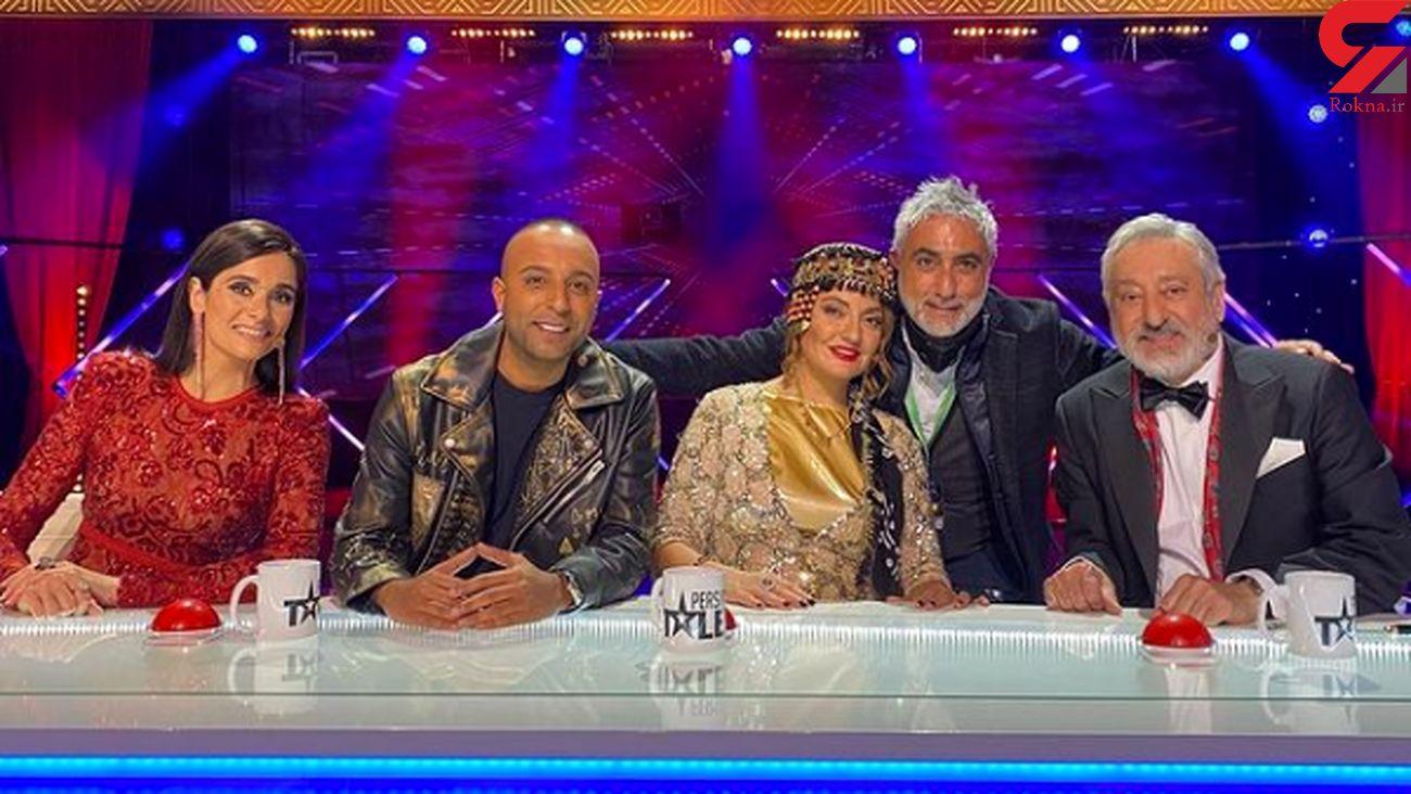 عکس / مهناز افشار در آغوش خواننده لس آنجلسی