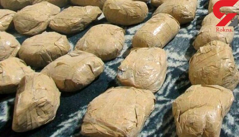 کشف محموله مخدر در جاده شیراز / توقیف پژو خلافکار