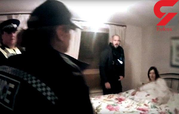 فیلم لحظه دستگیری سارا روی تخت خواب / پلیس 3 صبح به خانه ...