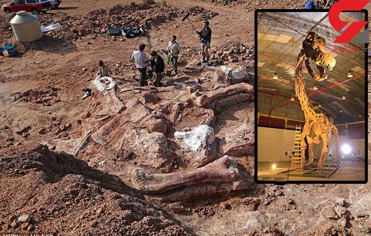 کشف اسکلت دایناسور 70 تنی 102 میلیون ساله
