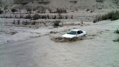 جاده شهرکرد - اندیکا زیر آب رفت +عکس