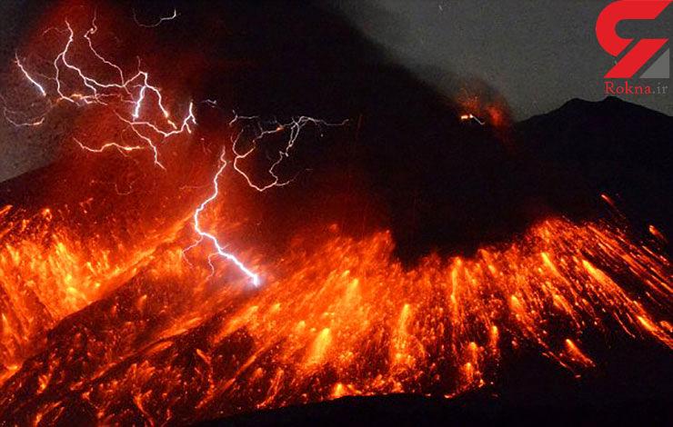 فوران آتشفشان در ژاپن