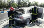 انفجار پراید در کاشان باعث سوختگی راننده شد