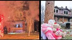 مادری که فقط خود را نجات داد / 5 کودک زنده زنده در آتش سوختند+ عکس