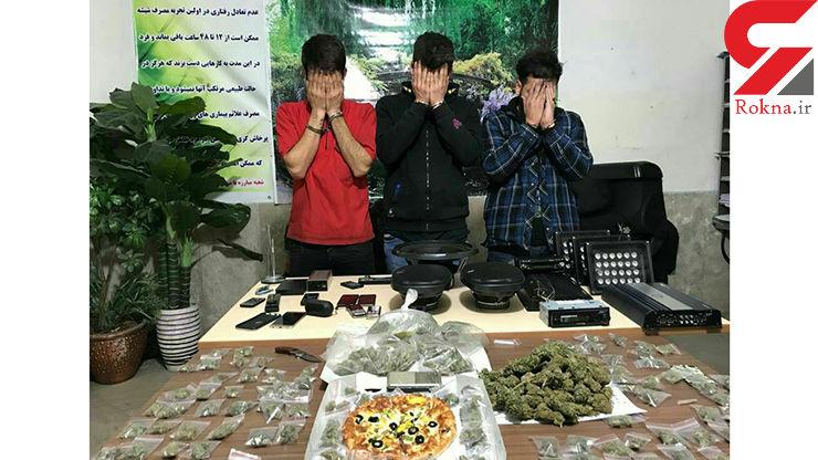 توزیع موادمخدر در جعبه پیتزا یوسف آباد+ عکس