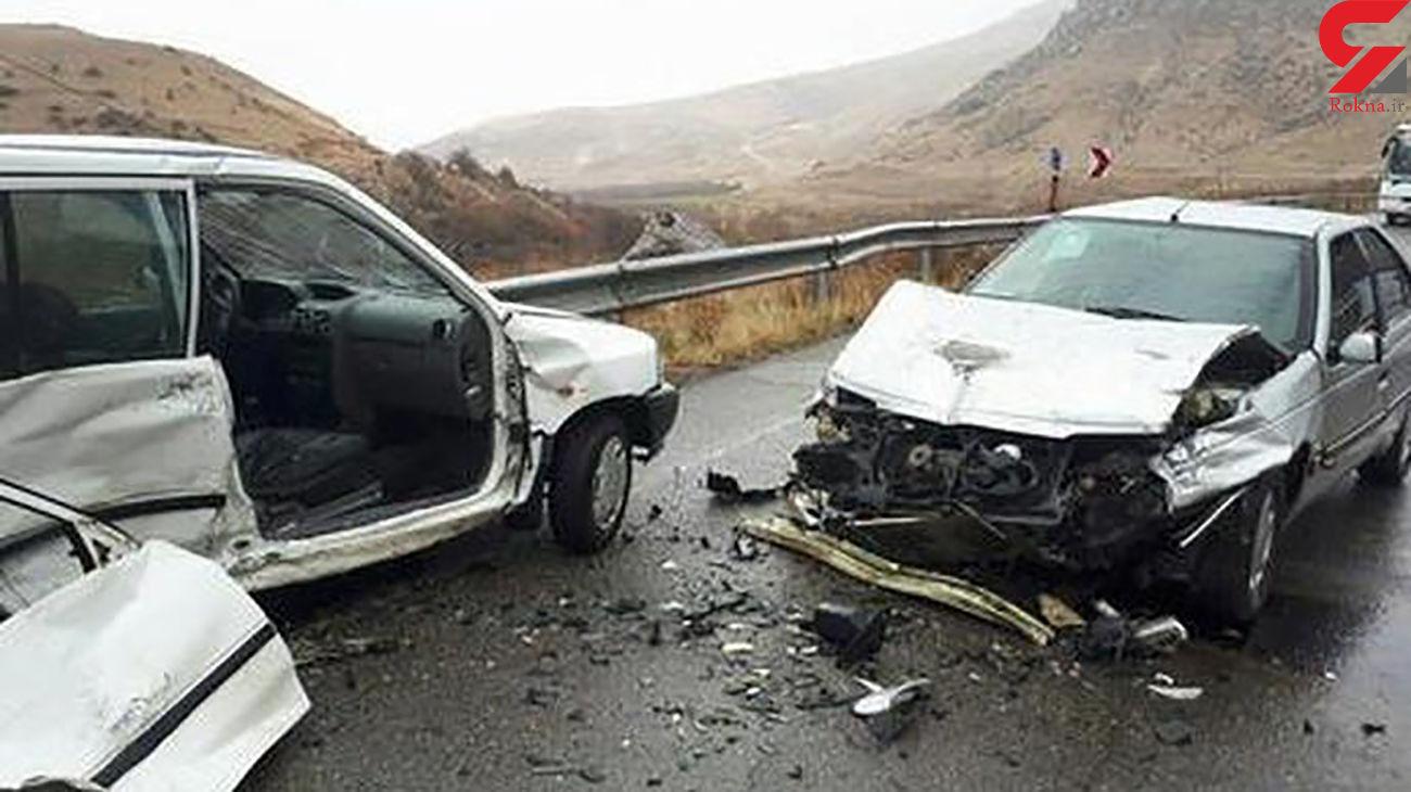 تصادف زنجیرهای در فیروزآباد با یک کشته و 3 زخمی