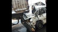 عجیب ترین عکس ها از تصادف 30 خودرو و کامیون در مشهد