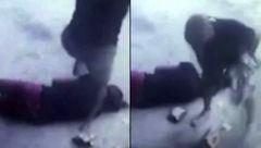 حمله وحشیانه یک روانی به دختر جوان در خیابان+فیلم
