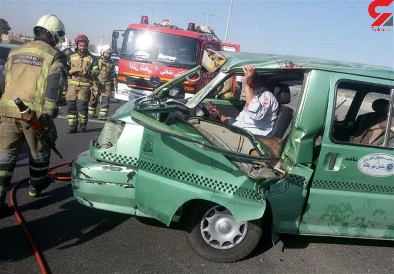 حادثه مرگبار در محور نائین / 2 کشته و 10 زخمی