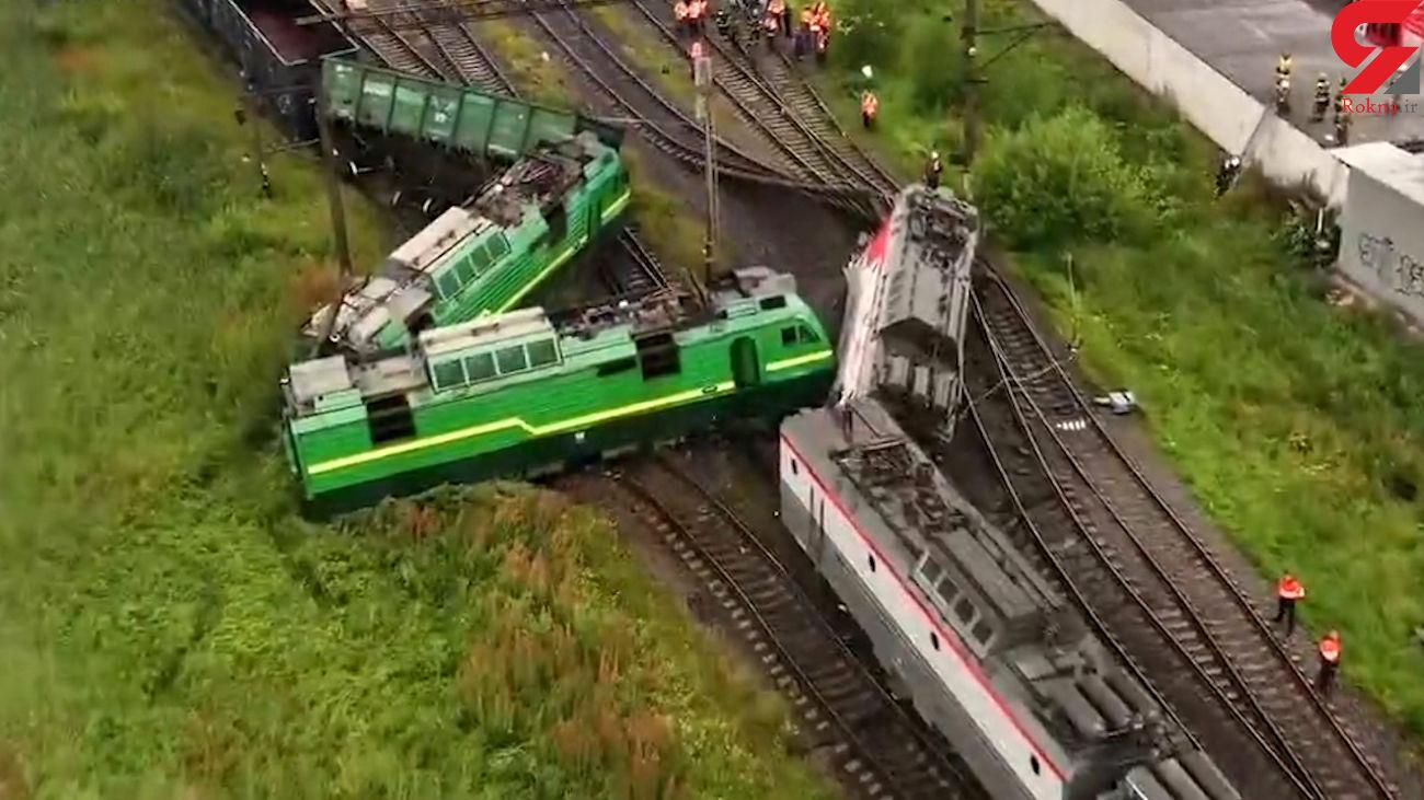 فیلم / برخورد خونین 2 قطار با یکدیگر 2 مصدوم داشت / روسیه