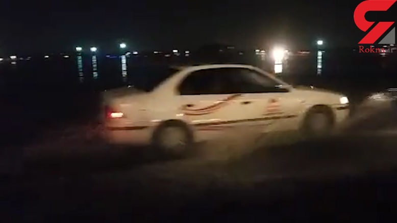 باران سیل آسا و آب گرفتگی در فرودگاه مهرآباد + فیلم