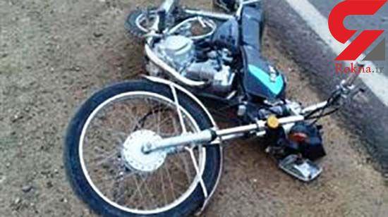 واژگونی موتور سیکلت در جهرم حادثه آفرید