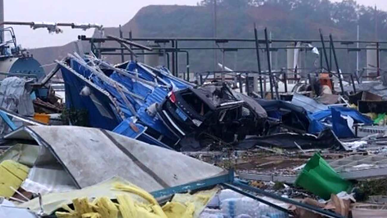 Tornado in China's Wuhan leaves 6 dead, 218 others injured